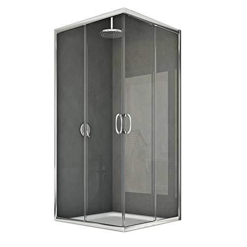 Junior Duschkabine 100x80 CM H185 Klarglas