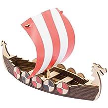 Led Lampe Wikinger Schiff Wikingerschiff mit Name Geschenke Männer Kinder Frau