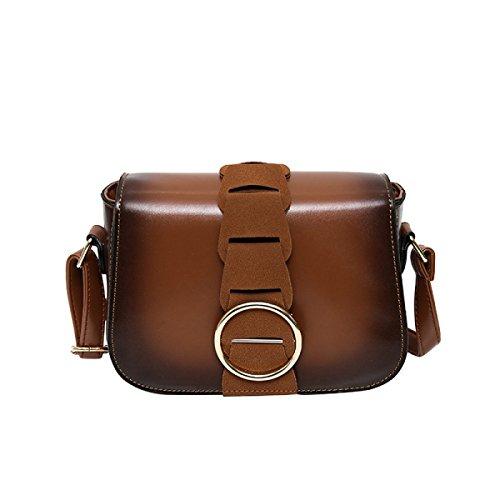 KYFW Womens Retro Mini-Schulter Messenger Bag Weibliche Kleine Quadratische Tasche Handtasche Handtasche C