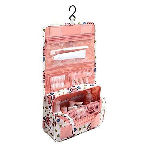Kosmetische Reisetaschen Kompakt Hängende Reise Toilettenbeutel Organisator Tasche Wasserdichte Oxford Wäschesack Handtasche mit Hängen Haken & Klettverschluss (D)