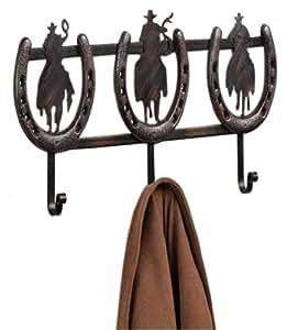homescapes gro e designer garderobenleiste schwarz braun. Black Bedroom Furniture Sets. Home Design Ideas