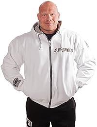 C.P. Sports Chaqueta con capucha–Color: Blanco/Bodybuilding–Sudadera con capucha Sweater–Sudadera con capucha, mujer hombre unisex, blanco, M