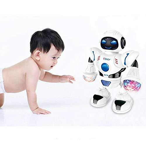Roboter Spielzeug Walking Tanzen 360 Grad Spinning mit Lichtern und Musik für Kinder Elektronische Pet Toy Geburtstagsgeschenk - Walking-spielzeug-roboter