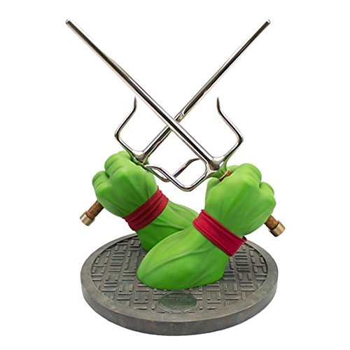 12 Inc Props (Factory Entertainment Teenage Mutant Ninja Turtles Raphael Sai Limited Edition Prop Replica Nachbildung Statue)
