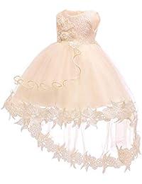 XFentech Vestido De Princesa para Bebés - Flor De Encaje Formal Dama De Honor De La Boda Fiesta Bautizo Bebé…