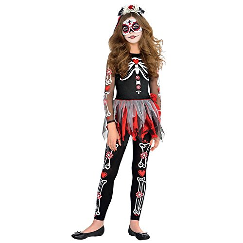 New Amscan Teens Halloween Angst to The Bone Mädchen Skelett Fancy Dress Party Kostüm