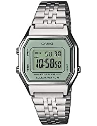 Casio Collection - Damen-Armbanduhr mit Digital-Display und Edelstahlarmband - LA680WEA-7EF
