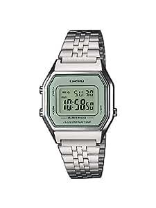 Casio Collection LA680WEA-7EF Orologio Digitale da Polso, Unisex, Acciaio Inox, Metallizzato