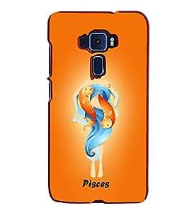 Pisces 3D Hard Polycarbonate Designer Back Case Cover for Asus Zenfone 2 ZE551ML