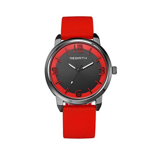 Damen-rot einzigartige Uhr mit roten Lederarmband populären modischer Armbanduhr Mode für Männer