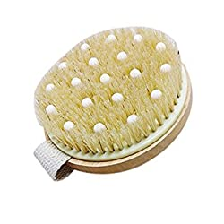 Rosenice Bath Shower Brush Natural Bristle Brush Massager Wood Body Brush With Band