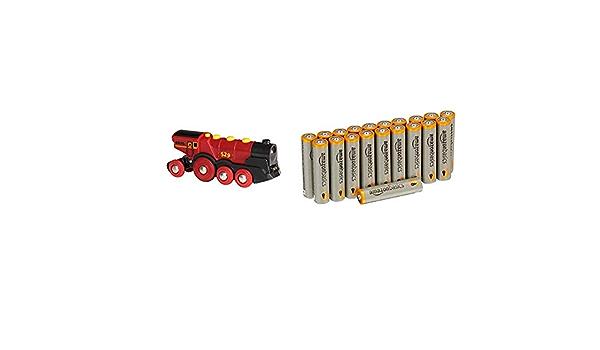 BRIO Bahn 33592 8 St/ück wiederaufladbar Aussehen kann variieren vorgeladen Rote Lola Batterielok /& Basics AAA-Batterien