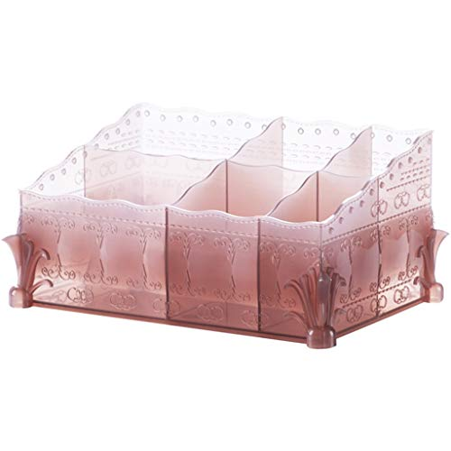 Kosmetikkoffer Organizer Make-up-Aufbewahrung Makeup Organizer Moderne transparente Kosmetik Aufbewahrungsbox Haushalt Schminktisch Kosmetiktasche Desktop Kunststoff Finishing Box Hautpflegeprodukte