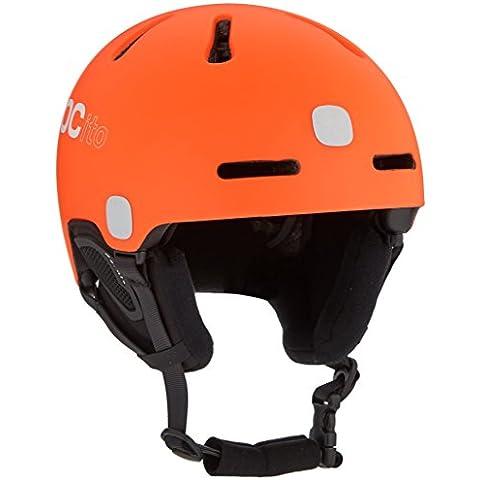 POC POCito Fornix - Casco de esquí unisex, color naranja (zinc orange), talla M-L