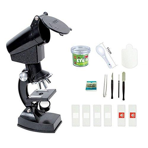 Kinder Mikroskop, EgoEra 300X, 600X, 1200X Vergrößerung Wissenschaft Kinder Mikroskop Kit mit Projektor und LED Beleuchtung mit Zubehör Set für Studenten Kinder Wissenschaft und Bildung
