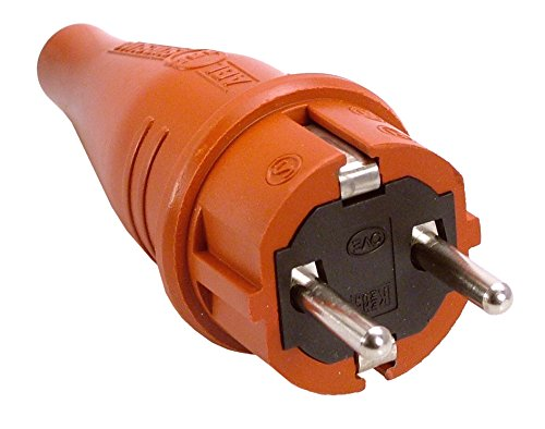 as - Schwabe Gummi Stecker, ohne Kabel - IP 44 für die Industrie, rot, 60406