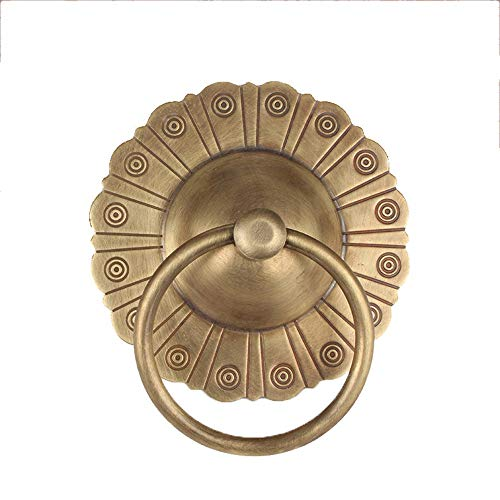 Zhengowen HO Türklopfer Schwere Antioxidans Türklopfer antike Vintage Tür Ring Griff Wandhalterung Klopfer Klingeltürklopfer (Farbe : C1, Größe : As Shown) - Antioxidans-naturen Weg