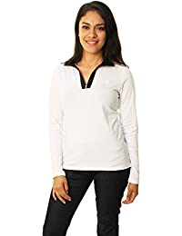 Ralph Lauren Lauren by Women's 1/4 Zip Mock Neck Top