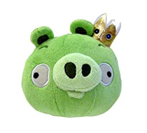 angry birds plush toy king pig pl sch mit sound schwein k nig mit krone gr n 13cm aus. Black Bedroom Furniture Sets. Home Design Ideas