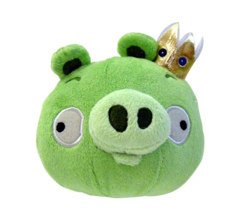 """Image of Angry Birds 5"""" Plush King Pig with Sound"""