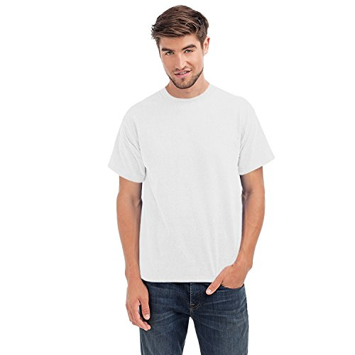 hanes-beefy-t-mens-cotton-crew-neck-tagless-top-white-xl-apparel