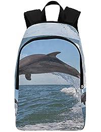 MONTOJ Zaino da Viaggio con Due Bellissimi Delfini per Uomo e Donna per Nuoto subacqueo