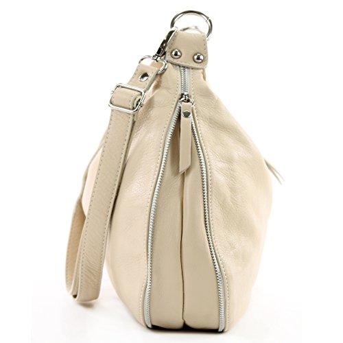 modamoda de �?italiano Borsa in pelle borsa a tracolla borsa donna borsa a tracolla in nappa T56 Avorio