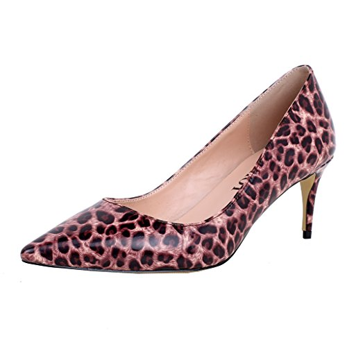ELEHOT Femme Elerace Kitten-Heel 6.5CM Synthétique Escarpins Multicolore