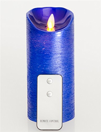 Velas de LED sin llama con realista parpadeo Wick, BULE Unscented 3.2