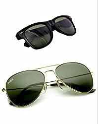 Redix Cool Combo 2 in 1 Trendy Wayfarer And Avaitor Sunglasses For Mens and Womens