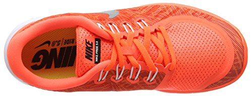 Nike Wmns Free 5.0 Print, Scarpe da Corsa Donna Arancione (Orange (Hyper Orange/Black-Sail-White 800))
