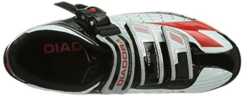 Diadora Tornado, Chaussures de Vélo de route Adulte Mixte Noir (weiß/schwarz/rot 1470)