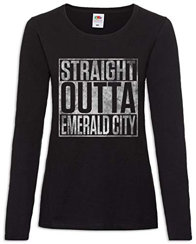 Straight Outta Emerald City Frauen Damen Langarm T-Shirt Größen XS – 2XL