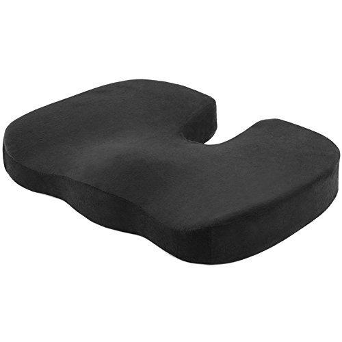 SueH Design Gedächtnisschaum Sitzkissen, Steißbein & Ischias Schmerzlinderung, Perfekt Für Büro Haus Rollstuhl Schule Auto Stuhl, mit Waschbaren Abdeckung -
