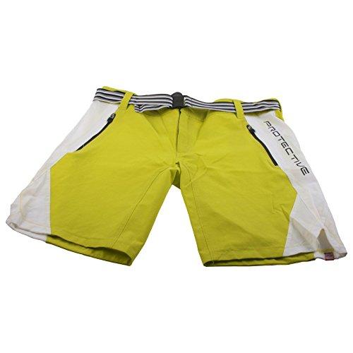 Protective CB Herren Baggy Shorts Kurz Mountain Bike Fahrrad Taschen Atmungsaktiv, 0215154, Farbe Gelb, Größe L