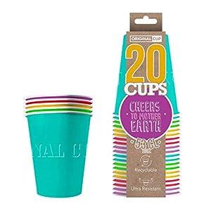 Original Cup - 20 x Vasos Américanos Papels Beer Pong 53cl - Juego para Beber - Verano