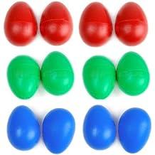 12 Maracas Agitadores Egg Huevos, diferentes colores 1332-X
