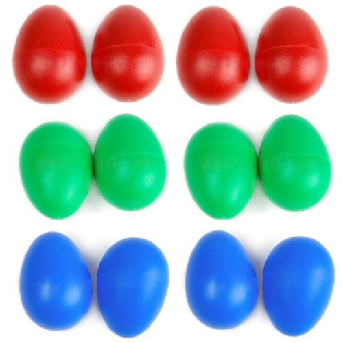 12-x-plastic-egg-maracas-shakers-musical-percussion-blue-red-green