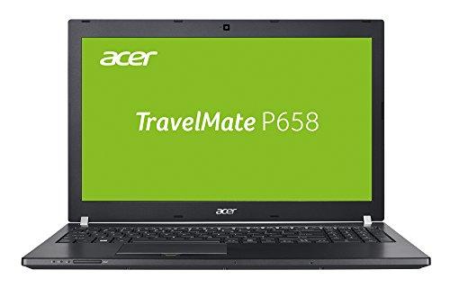 Acer TravelMate P658-M-71XA 39,6 cm (15,6 Zoll Full-HD IPS matt) Laptop (Intel Core i7-6500U, 8GB RAM, 256GB SSD, 500GB HDD, Intel HD, Win 7 Pro und Win 10 Pro) schwarz
