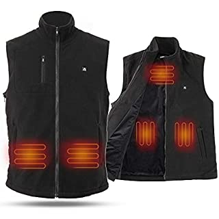 ARRIS Heated Vest Winter Warm Gilet Size Adjustable USB Charged Electric Heating Vest for Outdoor Camping Hiking Hunting Unisex