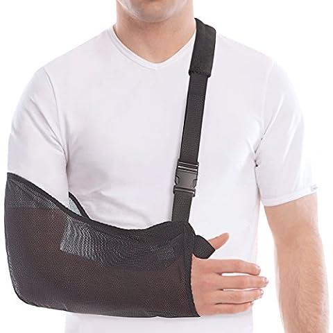 Arm Sling - Breathable Mesh - Lightweight - Adult/Medium, Forearm 13-16 by TOROS-GROUP