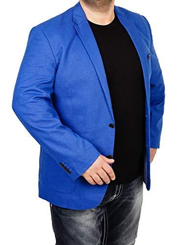 bonprix Herren Sakko untersetzt Comfort Fit Leinen-Mix Übergröße Blazer Zweiknopf Jackett Anzug Langgröße bequem Spezialgröße, Größe 27, lichtblau - Leinen-einreiher Sakko