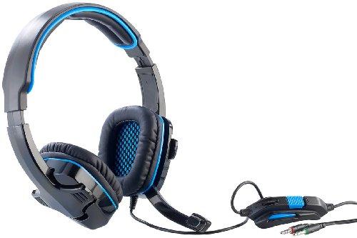 Mod-it Gamer Headset: Gaming-Headset mit Lautstärkeregler und Mikrofon-Stummschalter (Over Ear Stereo Kopfhörer)