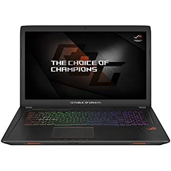 "Asus ROG GL753VE-GC004T Notebook, Display da 17.3"", Processore Intel i7-7700HQ, 2.8 GHz, SSD da 128 GB e HDD da 1024 GB, 16 GB di RAM, Scheda Grafica nVidia Geforce GTX 1050Ti, 4 GB"