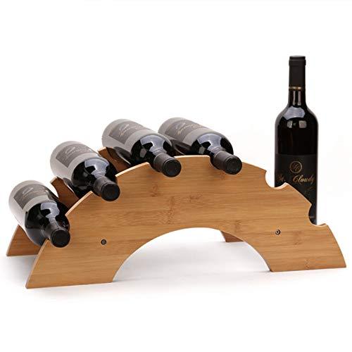 zyfun Weinflaschenhalter Flaschenregal Hölzerner Weinregal-Flaschenhalter-Gestell-Steine   für Whisky-Flaschen-Regal-Bier-Brauerei-Ausrüstungs-Stand für Flaschen