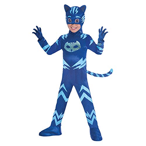 Amscan 9902966 Kinderkostüm PJ Masks Catboy Blau 7-8 - Cat Fancy Dress Kostüm Anzüge