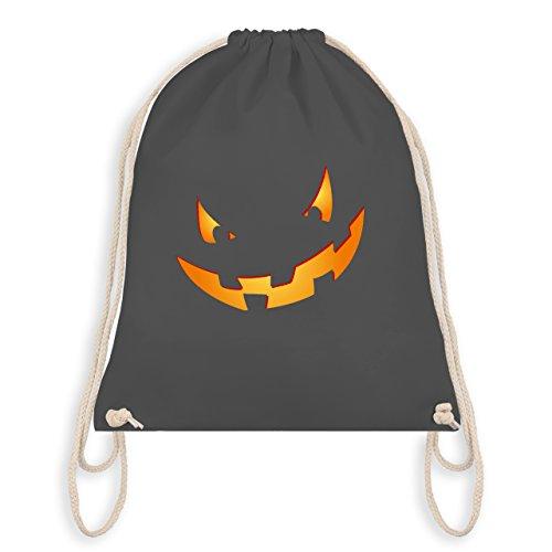 Halloween - Kürbisgesicht klein Pumpkin - Unisize - Dunkelgrau - WM110 - Turnbeutel & Gym Bag