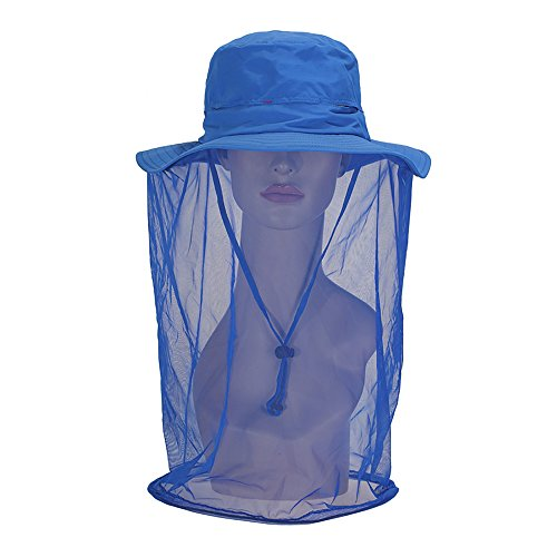 Zelta Outdoor Bee Mosquito Fly Head Veil Net Beekeeping Face Protection Hat Polyester Test