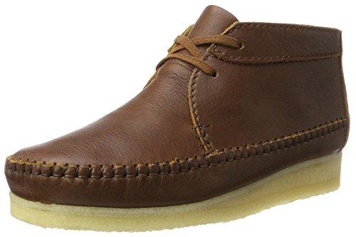 Clarks Originals Herren Weaver Boot Chukka, Braun (Tan Leather), 43 EU (Tan Chukka)