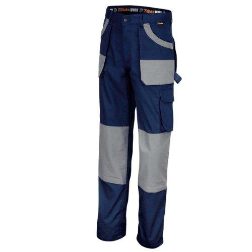 Beta 078700006 7870BG - Pantalone da lavoro in serge, taglia XXXL, colore: Blu